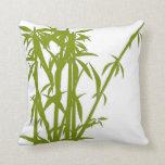 Bambú verde de coordinación/almohada verde sólida