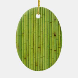 Bambú-Verde Ornamento De Navidad