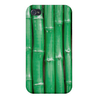 Bambú verde iPhone 4 fundas