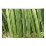 Bambú verde manteles individuales