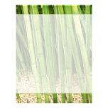 Bambú verde plantilla de membrete