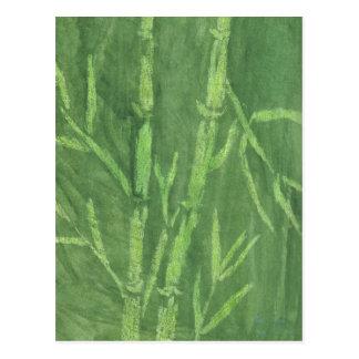 Bambú verde postal