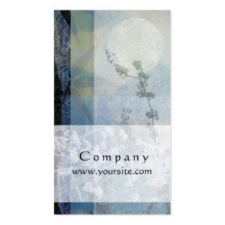 Bambú y flores azules tarjetas de visita