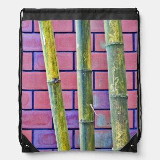 Bambú y ladrillos mochila