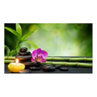 Bambú y terapia de la vela tarjetas de visita