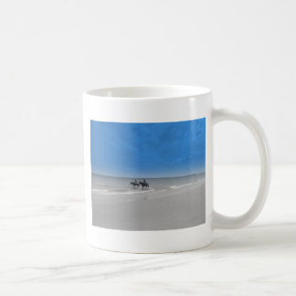bamburgh beach coffee mug
