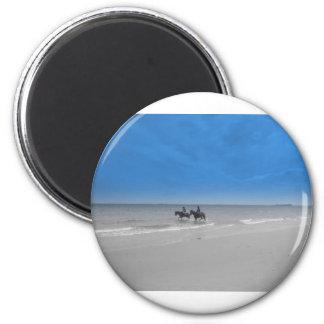 bamburgh beach fridge magnets