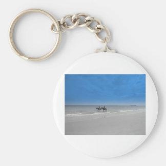 bamburgh beach keychain