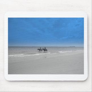 bamburgh beach mousepads