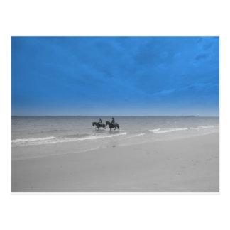 bamburgh beach post card