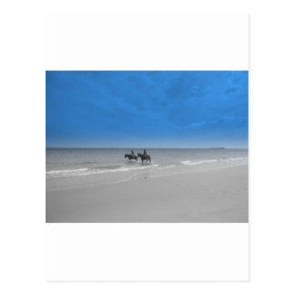 bamburgh beach postcard