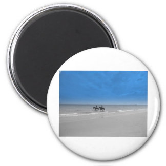 bamburgh beach refrigerator magnet