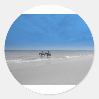 bamburgh beach sticker