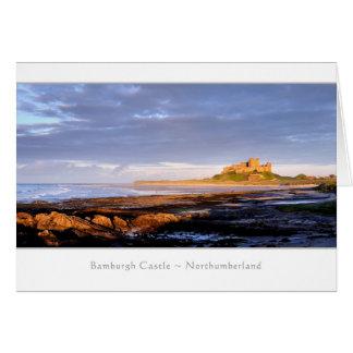 Bamburgh Castle panorama, Northumberland Card