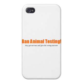 Ban Animal Testing! Funny Animal Rights Parody iPhone 4/4S Cases