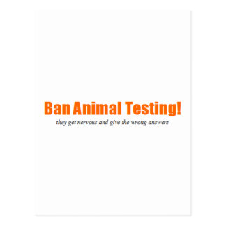 Ban Animal Testing! Funny Animal Rights Parody Postcard