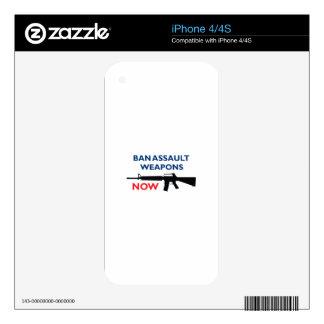 Ban Assault Weapon iPhone 4S Decals