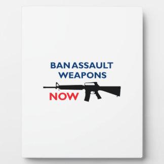 Ban Assault Weapon Photo Plaque