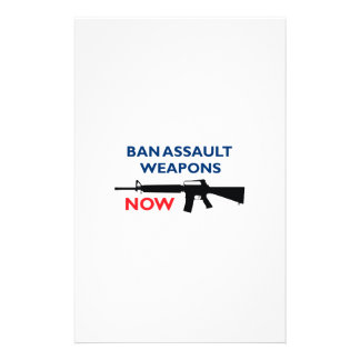 Ban Assault Weapon Customized Stationery