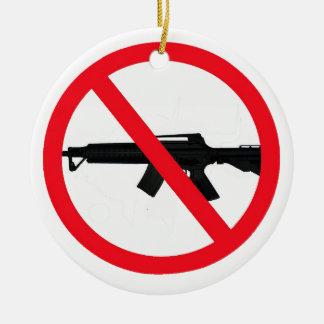 Ban Assault Weapons Ceramic Ornament