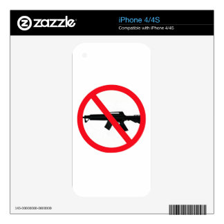 Ban Assault Weapons Decal For The iPhone 4