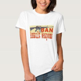 Ban Assault Weapons Front & Back T-shirt