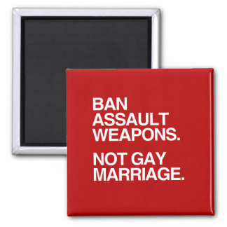 BAN ASSAULT WEAPONS NOT GAY MARRIAGE - png Refrigerator Magnet
