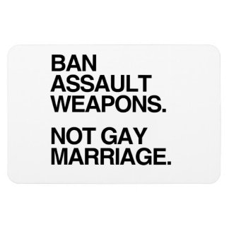 BAN ASSAULT WEAPONS NOT GAY MARRIAGE - png Rectangular Magnets