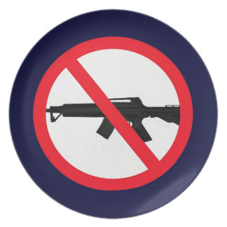 Ban Assault Weapons Party Plate