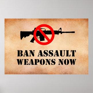 Ban Assault Weapons Poster