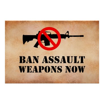 Art Themed Ban Assault Weapons Poster