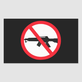 Ban Assault Weapons Rectangle Stickers