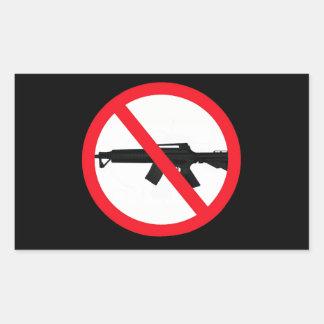 Ban Assault Weapons Rectangular Sticker