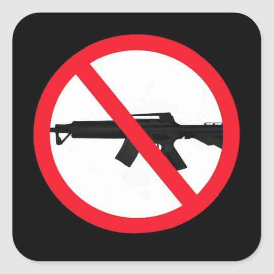 Ban Assault Weapons Square Sticker