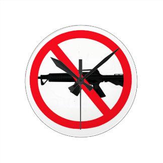 Ban Assault Weapons Wall Clocks