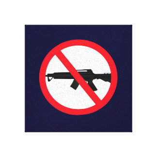Ban Assault Weapons Wall Hanging Canvas Print