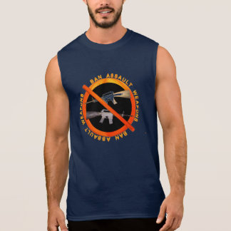 Ban Assult Rifles by Valxart.com Sleeveless Shirt