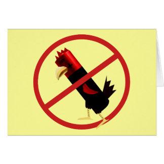 Ban battery hens card