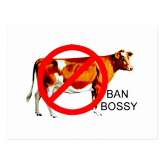 Ban Bossy Campaign Cow Postcard