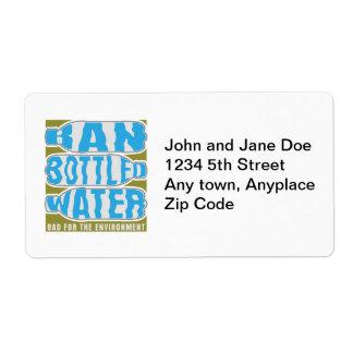 Ban Bottled Water Label