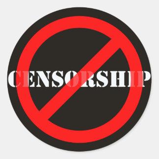 Ban Censorship Classic Round Sticker