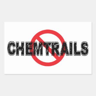 Ban Chemtrails Rectangular Sticker