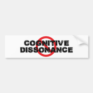 Ban Cognitive Dissonance Bumper Sticker