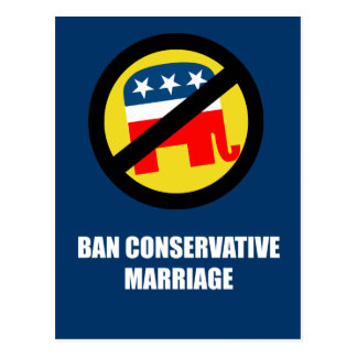 Ban Conservative Marriage Postcard