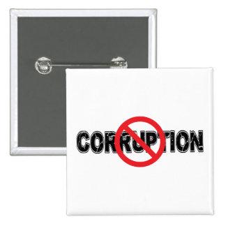 Ban Corruption 2 Inch Square Button