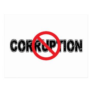 Ban Corruption Postcard