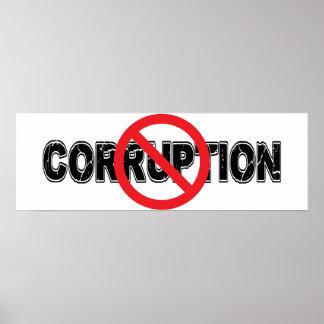 Ban Corruption Poster