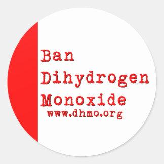 Ban Dihydrogen Monoxide Sticker
