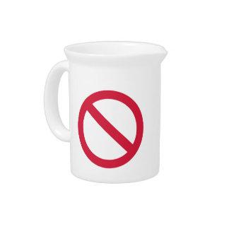 Ban forbidden drink pitcher