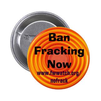 Ban Fracking Now button
